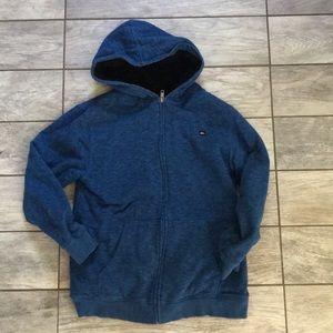 GUC fleece lined hoodie. Quicksilver kids XL